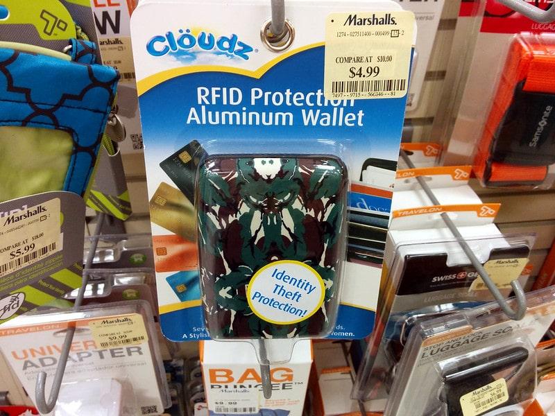rfid blocking aluminum wallet